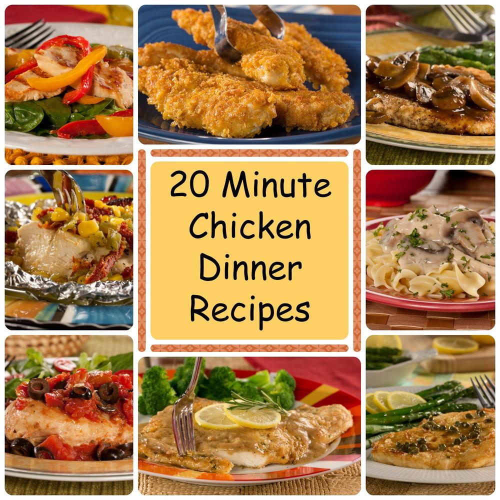 Healthy Chicken Dinners  20 Minute Chicken Dinner Recipes