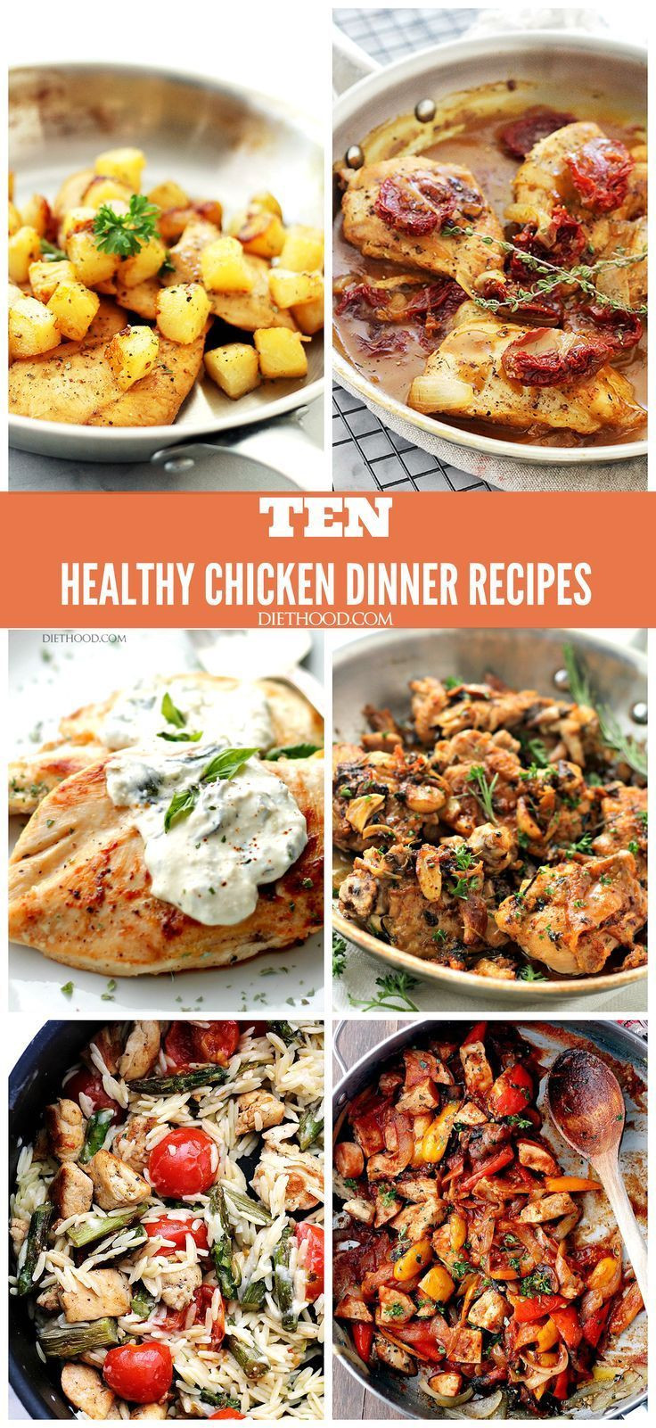 Healthy Chicken Dinners  TEN HEALTHY CHICKEN DINNER RECIPES A pilation of my