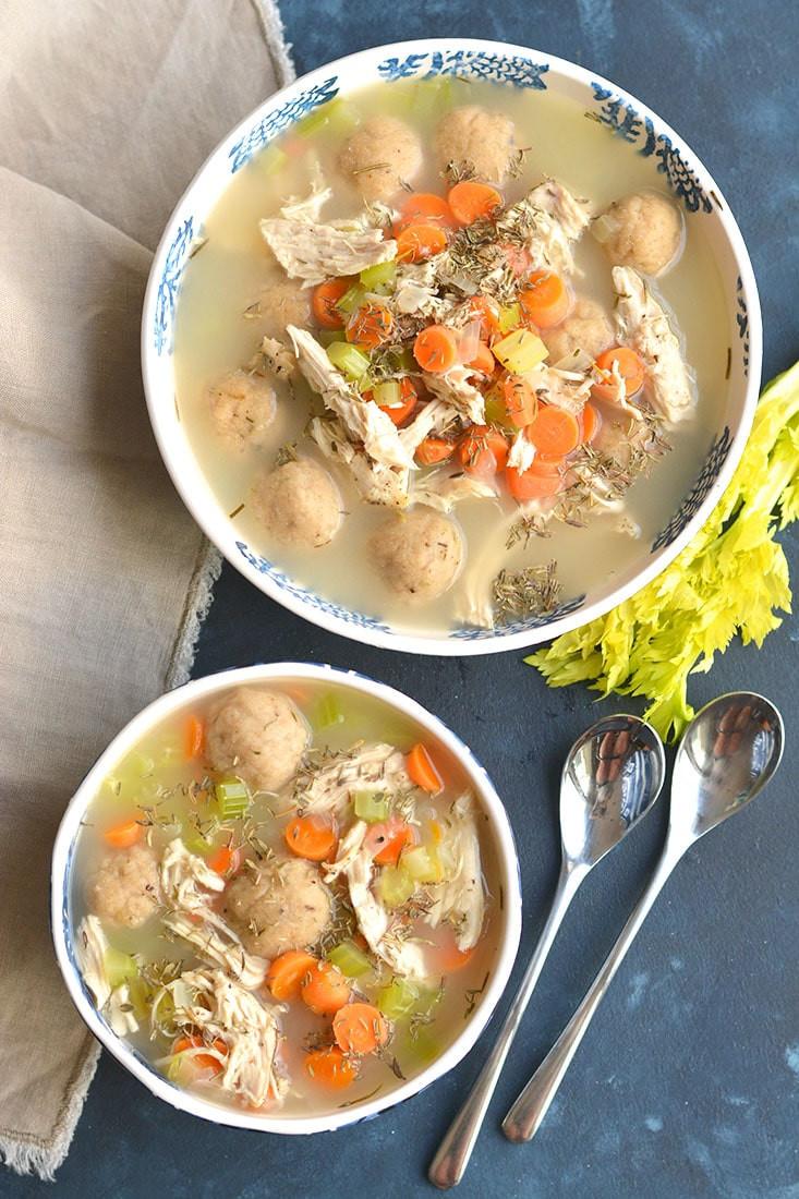 Healthy Chicken Dumplings  Healthy Chicken Dumpling Soup GF Low Cal Skinny