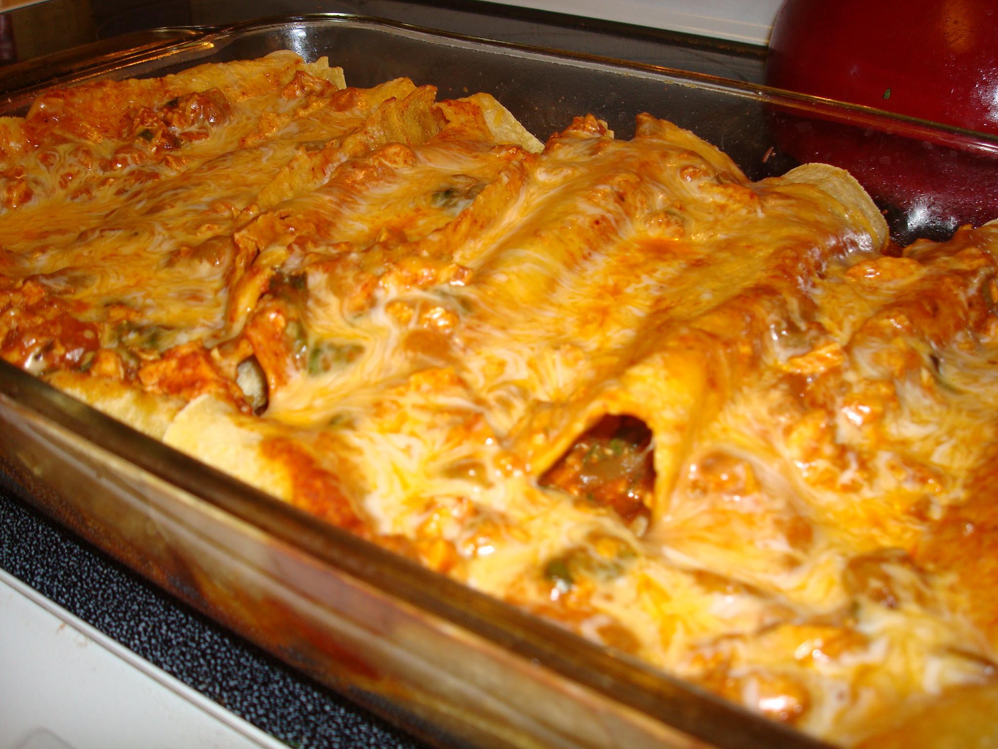 Healthy Chicken Enchilada Casserole  Healthy Chicken Enchilada Casserole
