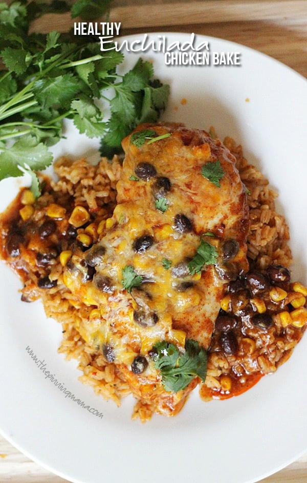 Healthy Chicken Enchilada Casserole  Healthy Enchilada Chicken Bake Recipe