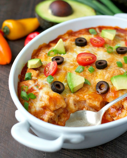 Healthy Chicken Enchilada Casserole  recipe Healthy Chicken Enchilada Casserole My