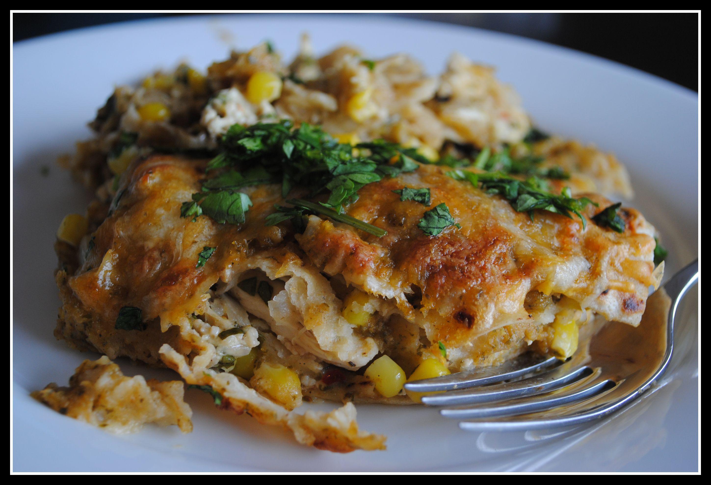 Healthy Chicken Enchilada Casserole  Money Matters Chicken Enchilada Casserole
