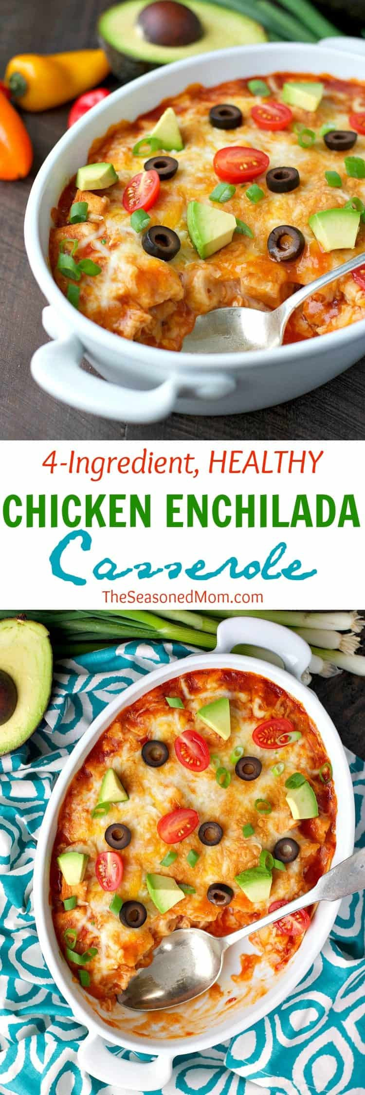 Healthy Chicken Enchilada Casserole  4 Ingre nt Healthy Chicken Enchilada Casserole The
