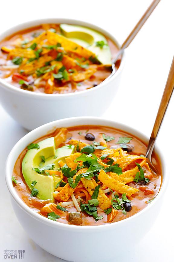 Healthy Chicken Enchilada Soup  20 Minute Cheesy Chicken Enchilada Soup