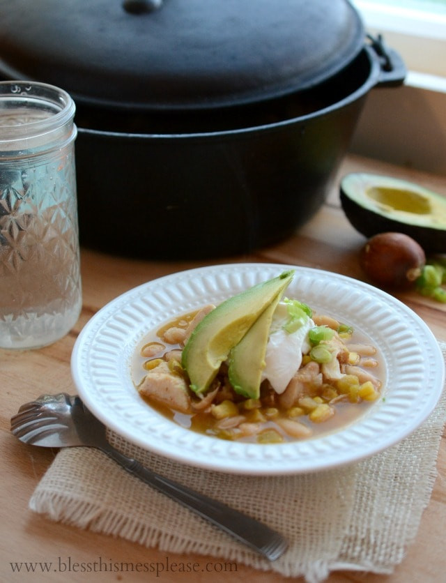 Healthy Chicken Enchilada Soup  Quick Easy and Healthy White Chicken Enchilada Soup