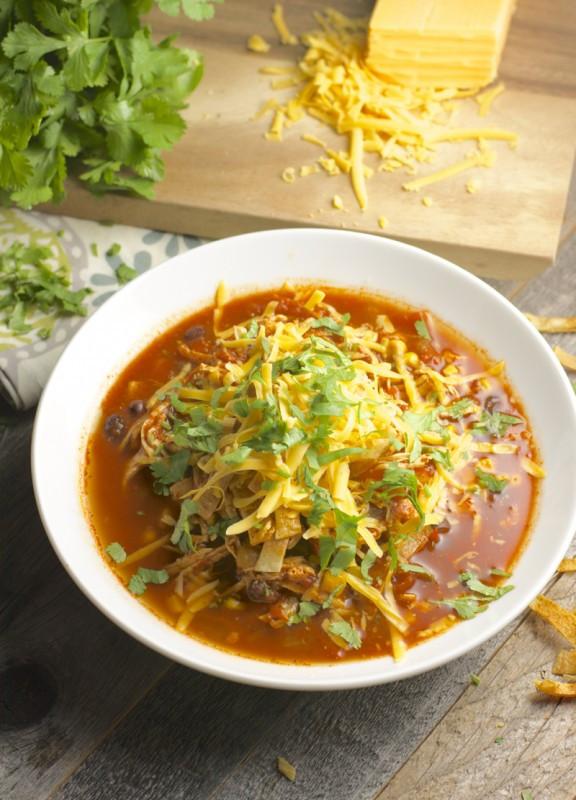 Healthy Chicken Enchilada Soup  Slow Cooker Chicken Enchilada Soup Maebells