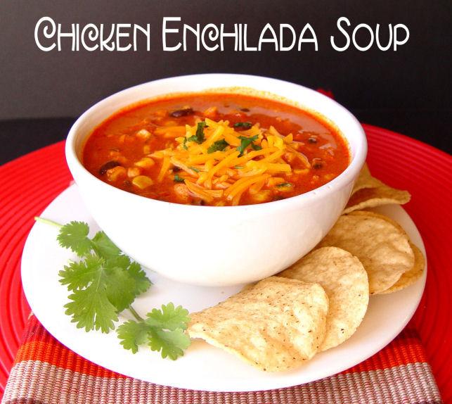Healthy Chicken Enchilada Soup  Chicken Enchilada Soup Crock Pot