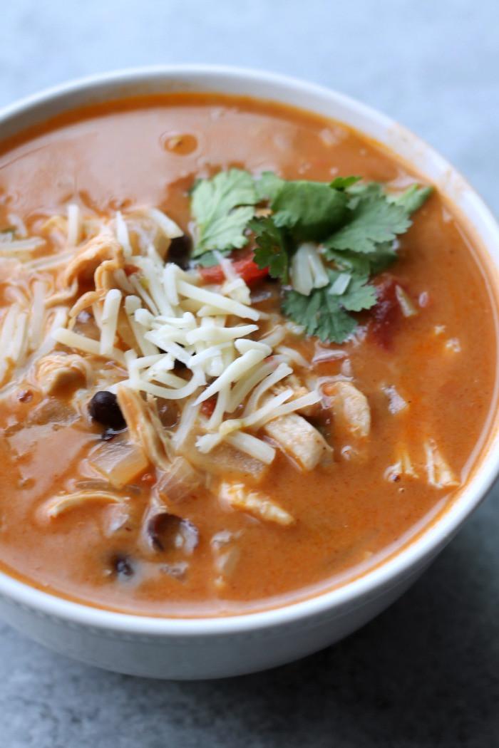 Healthy Chicken Enchilada Soup  Healthy Chicken Enchilada Soup Organize Yourself Skinny