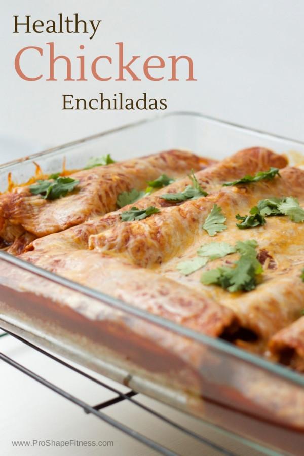 Healthy Chicken Enchiladas  Healthy Low Carb Chicken Enchiladas ProShapeFitness
