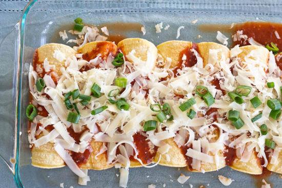 Healthy Chicken Enchiladas  Chicken Enchiladas made with Homemade Enchilada Sauce