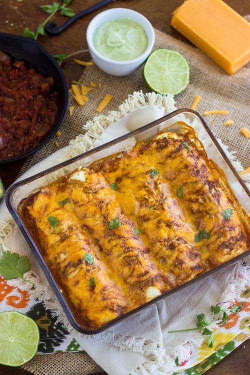 Healthy Chicken Enchiladas  35 Skinny fort Food Recipes