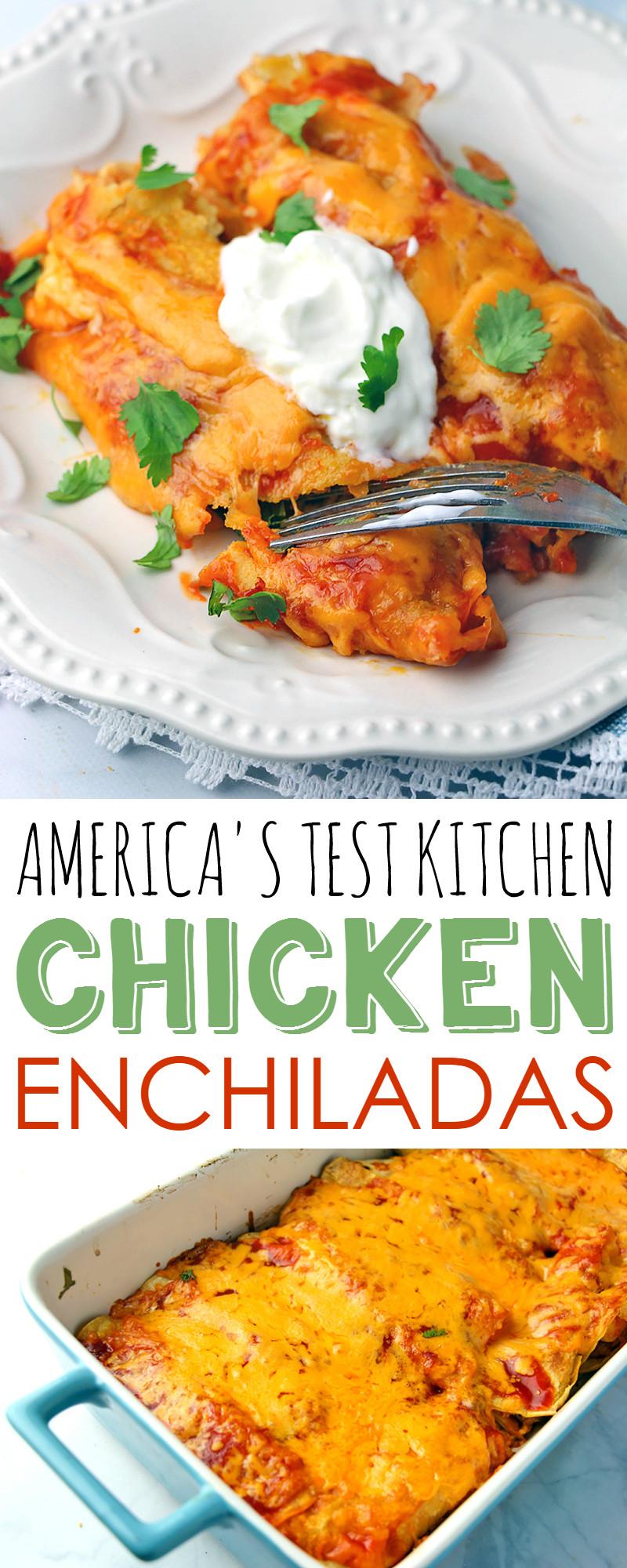 Healthy Chicken Enchiladas With Green Sauce  Chicken Enchiladas Recipe from The America s Test