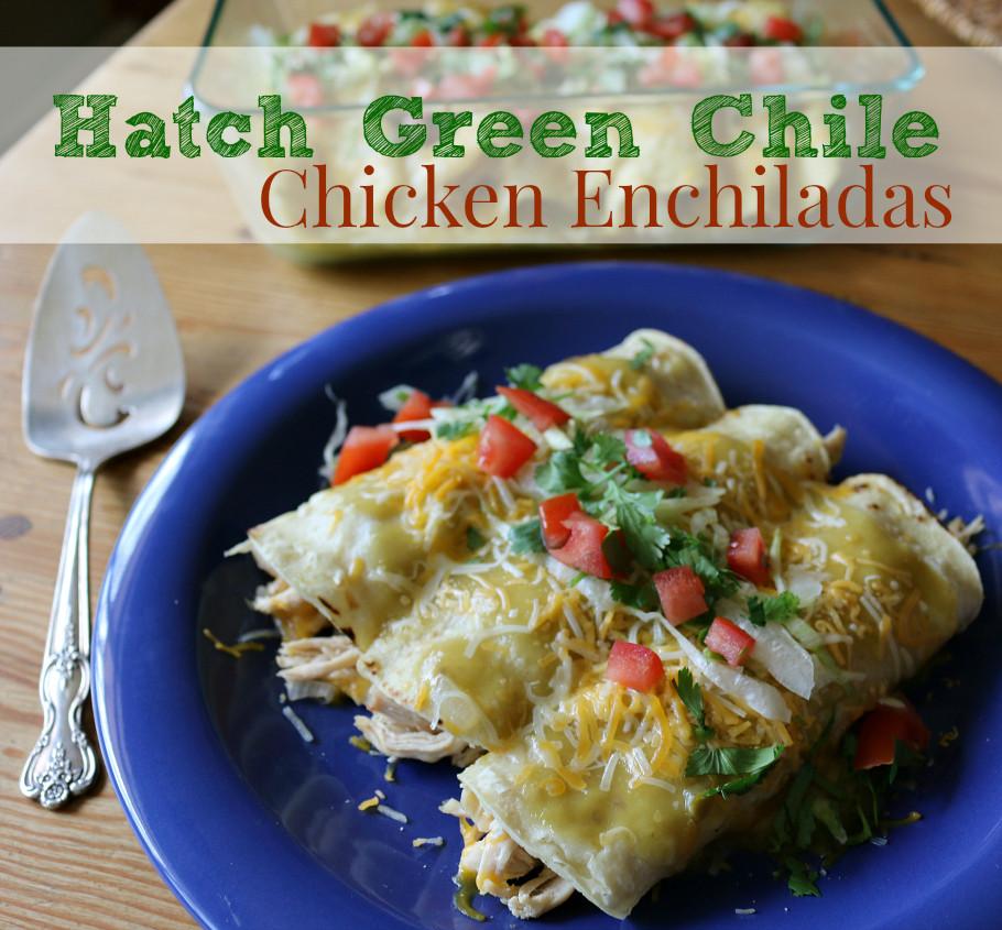 Healthy Chicken Enchiladas With Green Sauce  Hatch Green Chile Chicken Enchiladas