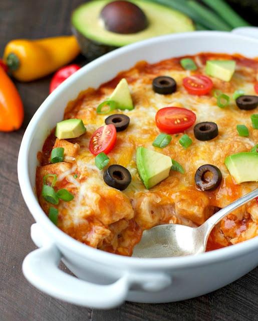 Healthy Chicken Enchiladas With Green Sauce  recipe Healthy Chicken Enchilada Casserole My