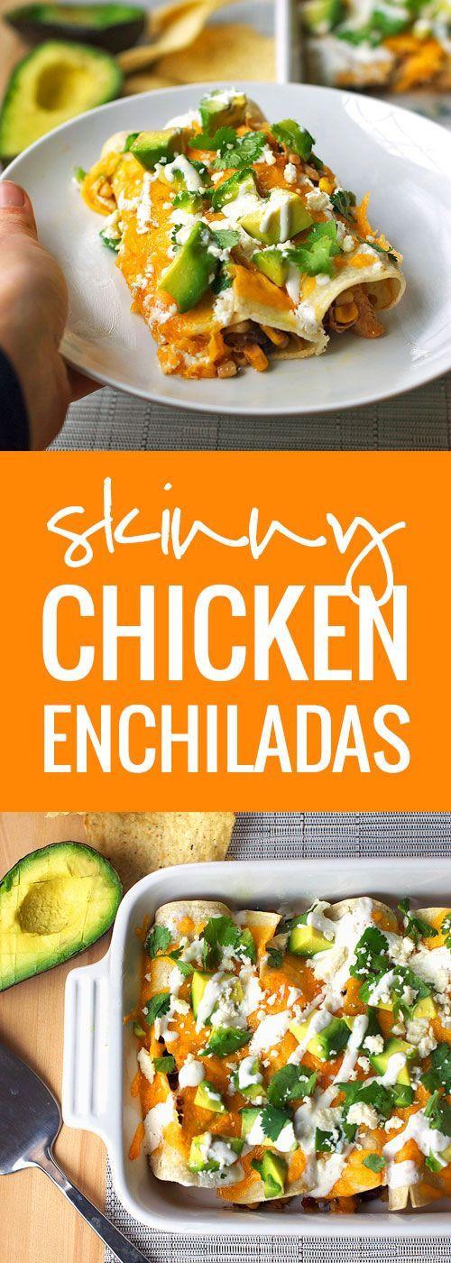 Healthy Chicken Enchiladas With Green Sauce  Skinny Chicken Enchiladas Recipe