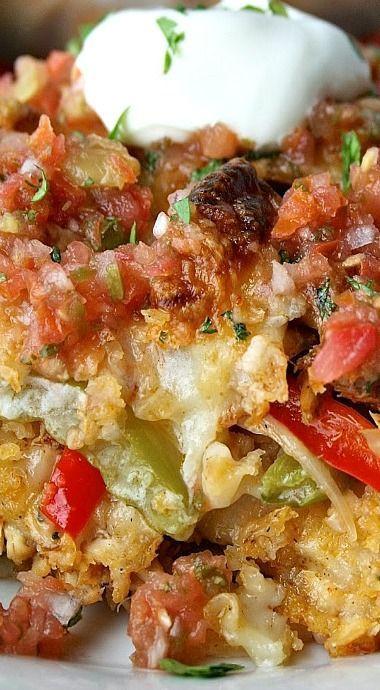 Healthy Chicken Fajita Casserole  Top 25 best Chicken Fajita Casserole ideas on Pinterest