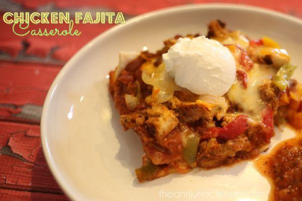 Healthy Chicken Fajita Casserole  Best 25 Chicken fajita casserole ideas on Pinterest