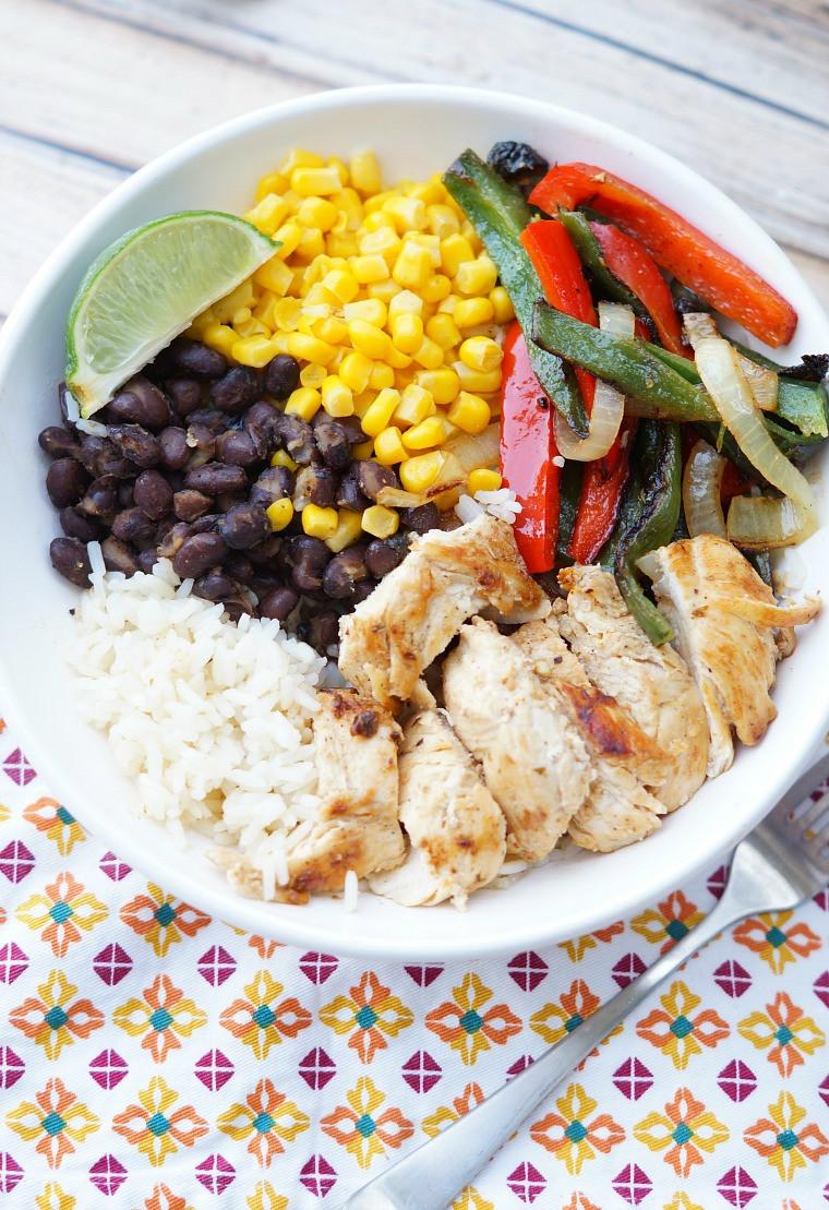 Healthy Chicken Fajitas  Chicken Fajita Rice Bowls