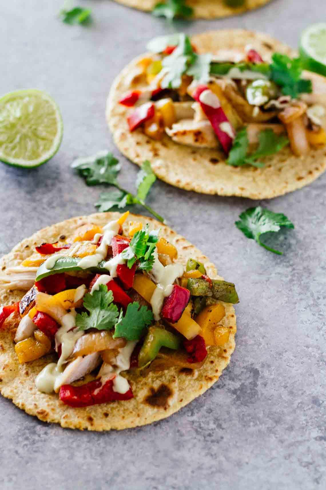 Healthy Chicken Fajitas  Healthy Chicken Fajita Tacos Jar Lemons