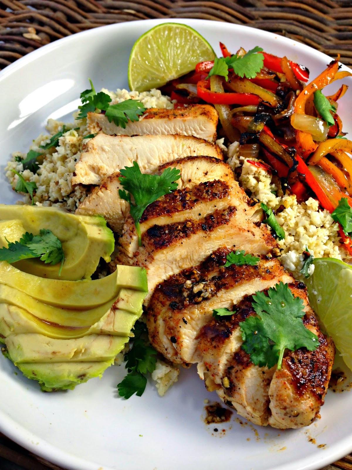 Healthy Chicken Fajitas  Healthy Blackened Chicken Fajitas With Cilantro Lime