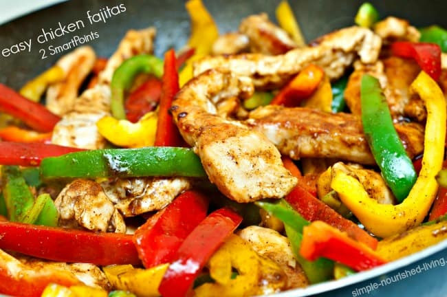 Healthy Chicken Fajitas  Weight Watchers Easy Healthy Chicken Fajitas Recipe 2