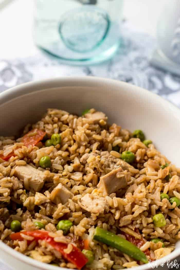 Healthy Chicken Fried Rice  Easy and Healthy Chicken Fried Rice Dash of Herbs