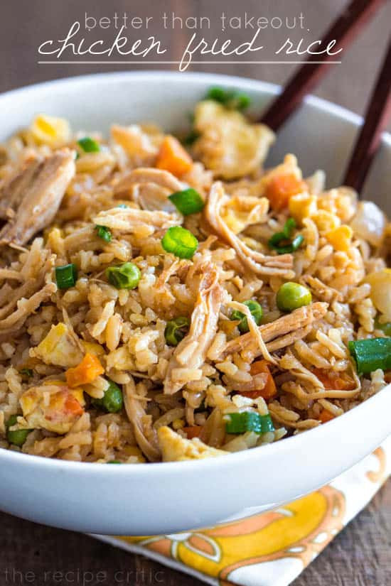 Healthy Chicken Fried Rice  Better than Takeout Chicken Fried Rice