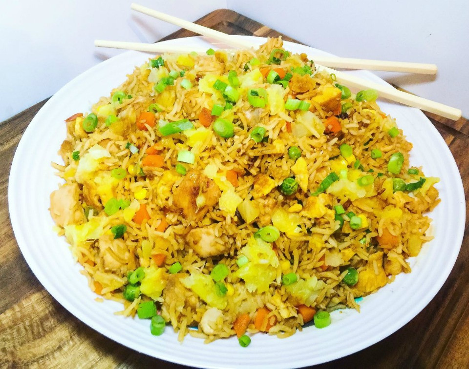 Healthy Chicken Fried Rice  Healthy Chicken and Pineapple Fried Rice Recipe