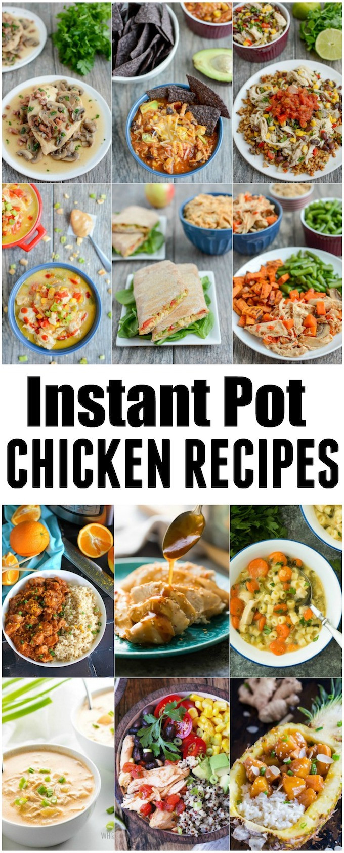 Healthy Chicken Instant Pot Recipes  Instant Pot Chicken Recipes