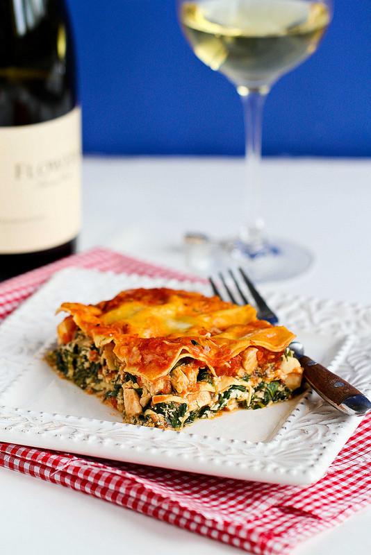 Healthy Chicken Lasagna  Cookin Canuck Healthy Chicken & Spinach Lasagna Recipe