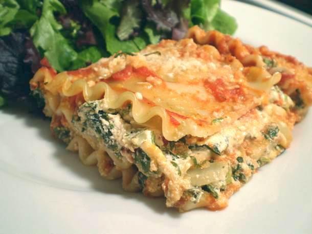 Healthy Chicken Lasagna  Healthy & Delicious Lighter Spinach Lasagna Recipe