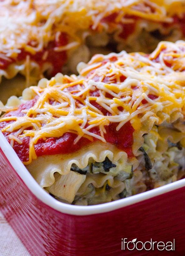 Healthy Chicken Lasagna  Chicken Lasagna Roll Ups with Artichoke iFOODreal