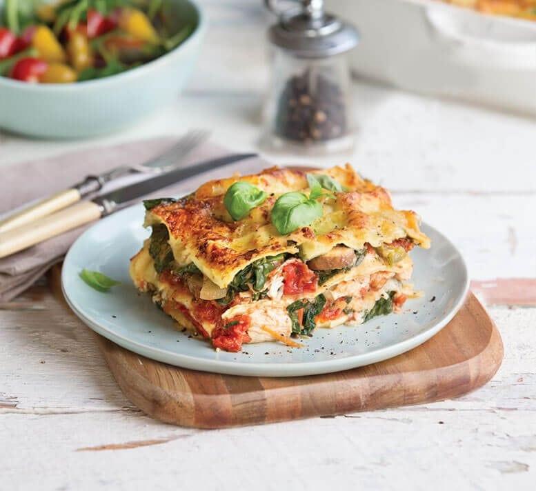 Healthy Chicken Lasagna  Chicken and mushroom lasagne Healthy Food Guide