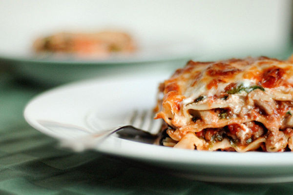 Healthy Chicken Lasagna  Healthy Chicken Lasagne with roasted tomatoes