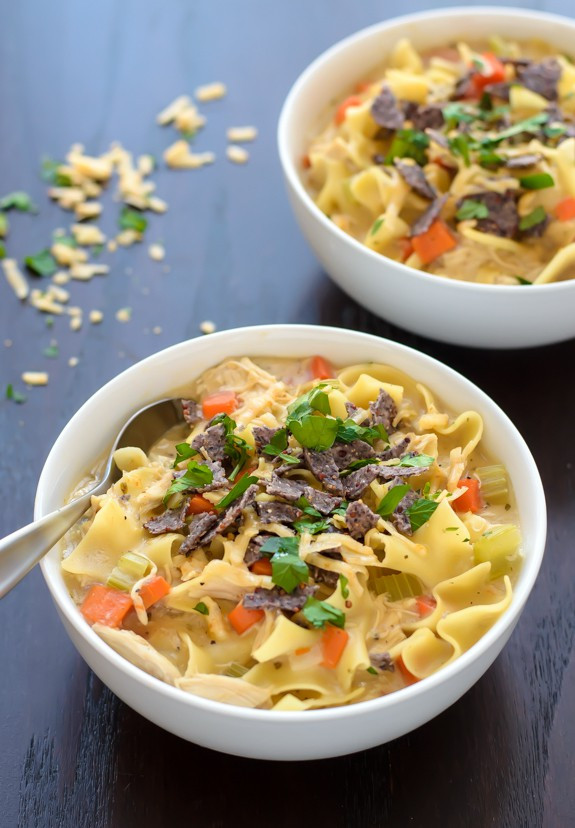 Healthy Chicken Noodle Soup  16 Easy Healthy Recipes to Try in 2016