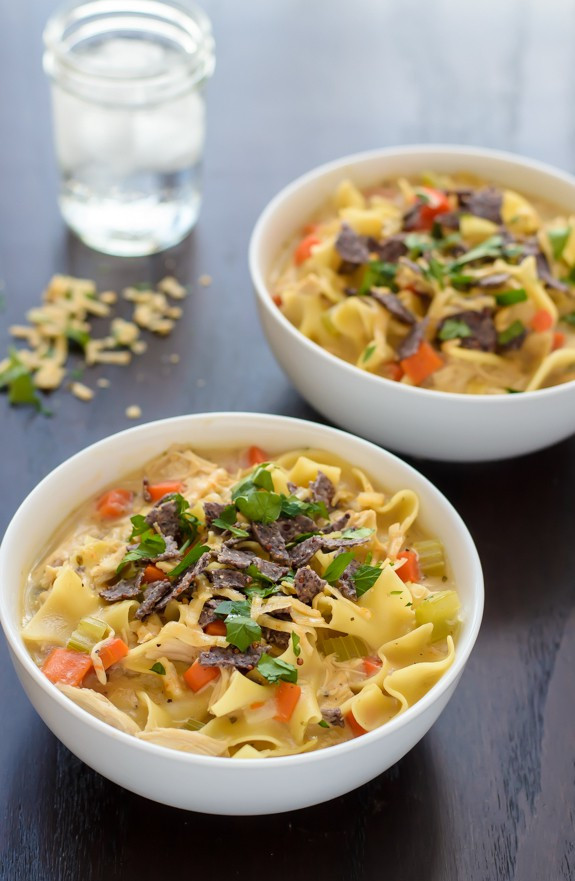 Healthy Chicken Noodle Soup  Creamy Chicken Noodle Soup