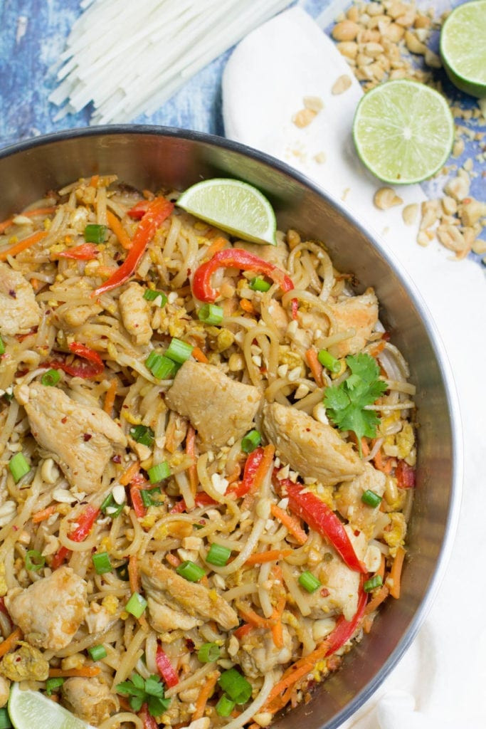 Healthy Chicken Pad Thai  Healthy Chicken Pad Thai The Clean Eating Couple