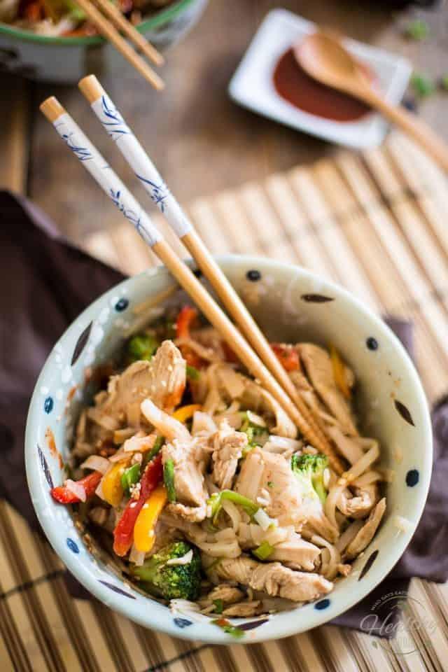 Healthy Chicken Pad Thai  Quick Chicken Pad Thai