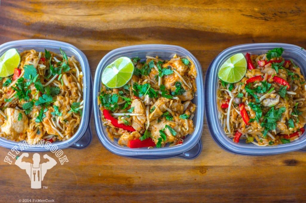 Healthy Chicken Pad Thai  Healthy Chicken Pad Thai Meal Prep