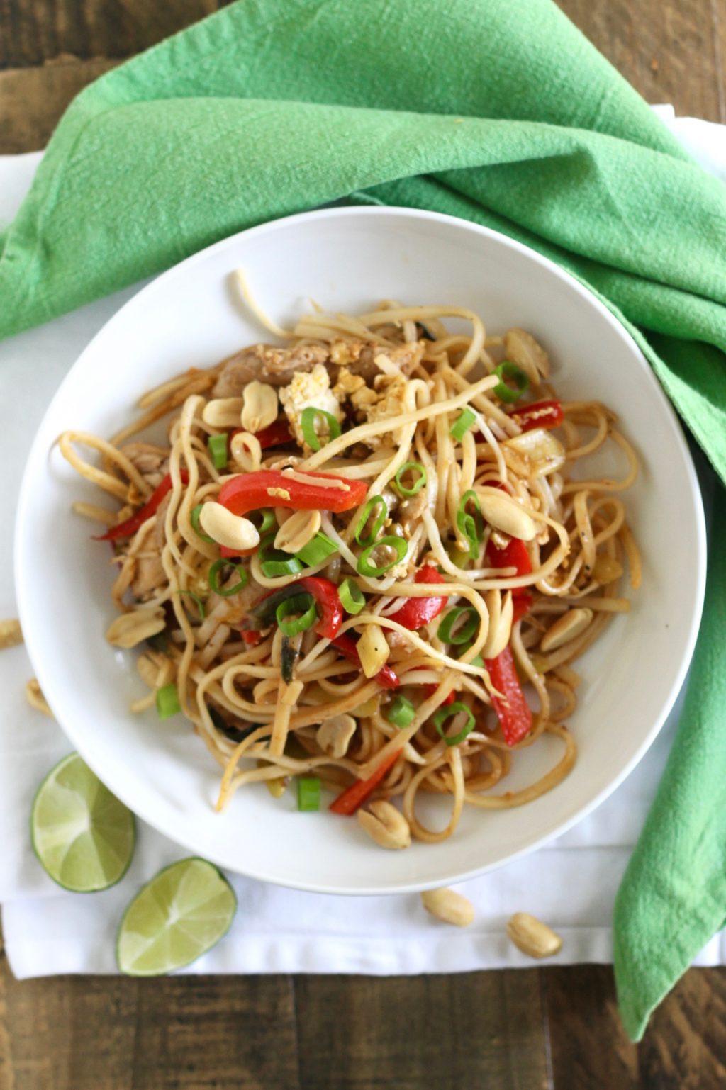 Healthy Chicken Pad Thai  Healthy Pad Thai with Chicken Recipe Little Chef Big