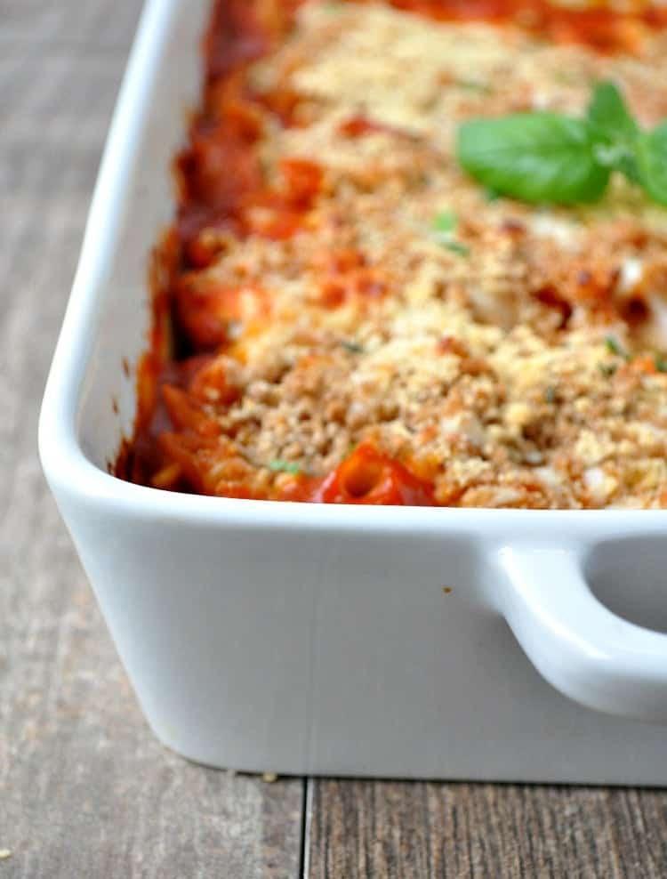 Healthy Chicken Parmesan Casserole  healthy chicken parmesan casserole