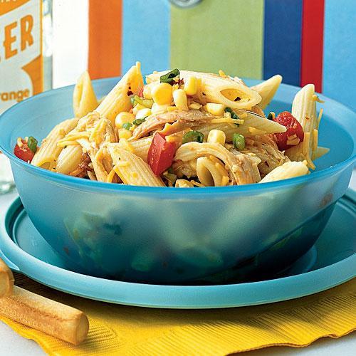 Healthy Chicken Pasta Salad  Southwestern Chicken Pasta Salad Healthy Lunch Ideas