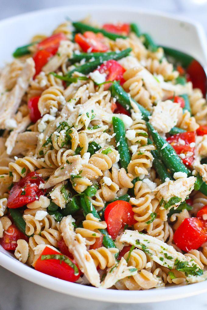 Healthy Chicken Pasta Salad  Best 20 Healthy chicken pasta ideas on Pinterest