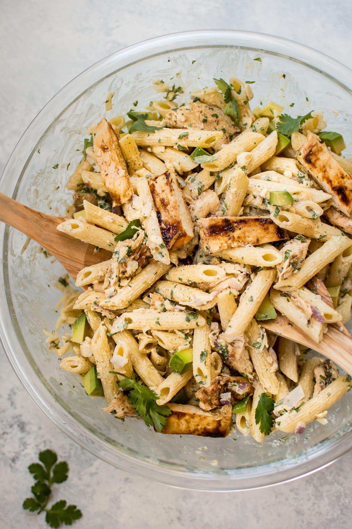 Healthy Chicken Pasta Salad  Grilled Chicken Pasta Salad • Salt & Lavender