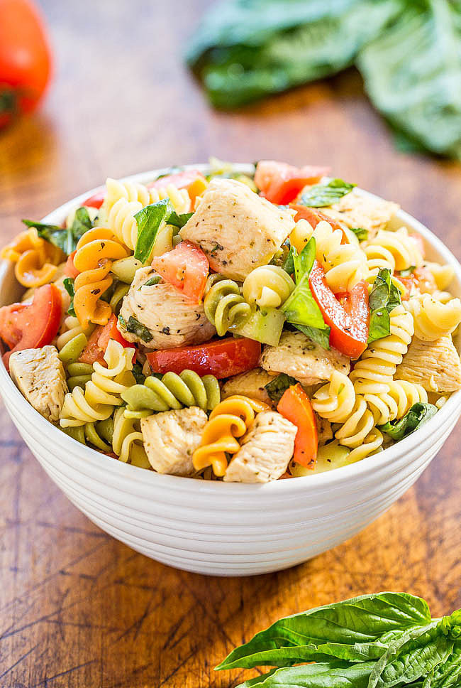 Healthy Chicken Pasta Salad  Italian Chicken Pasta Salad