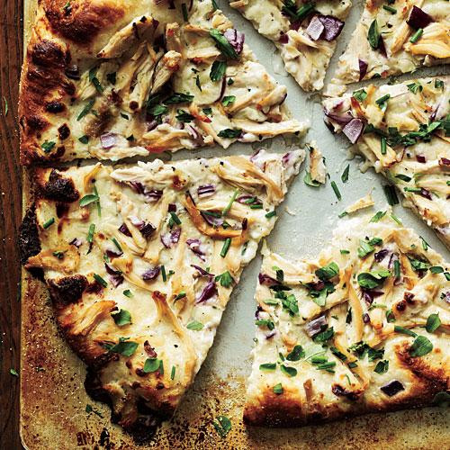 Healthy Chicken Pizza  Chicken and Herb White Pizza Healthy Pizza Recipes