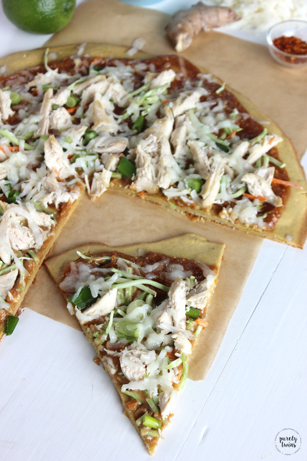 Healthy Chicken Pizza Recipes  Peanut chicken pizza recipe Easy meal in under 30 minutes