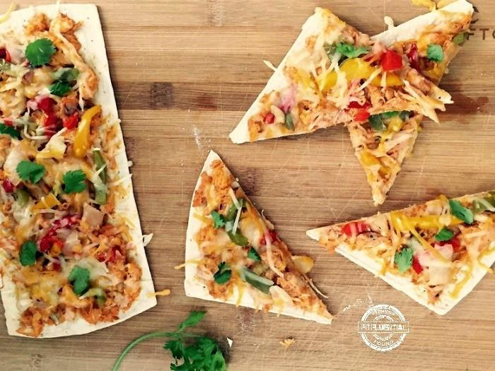 Healthy Chicken Pizza  Healthy Buffalo Chicken Pizza FitFluential