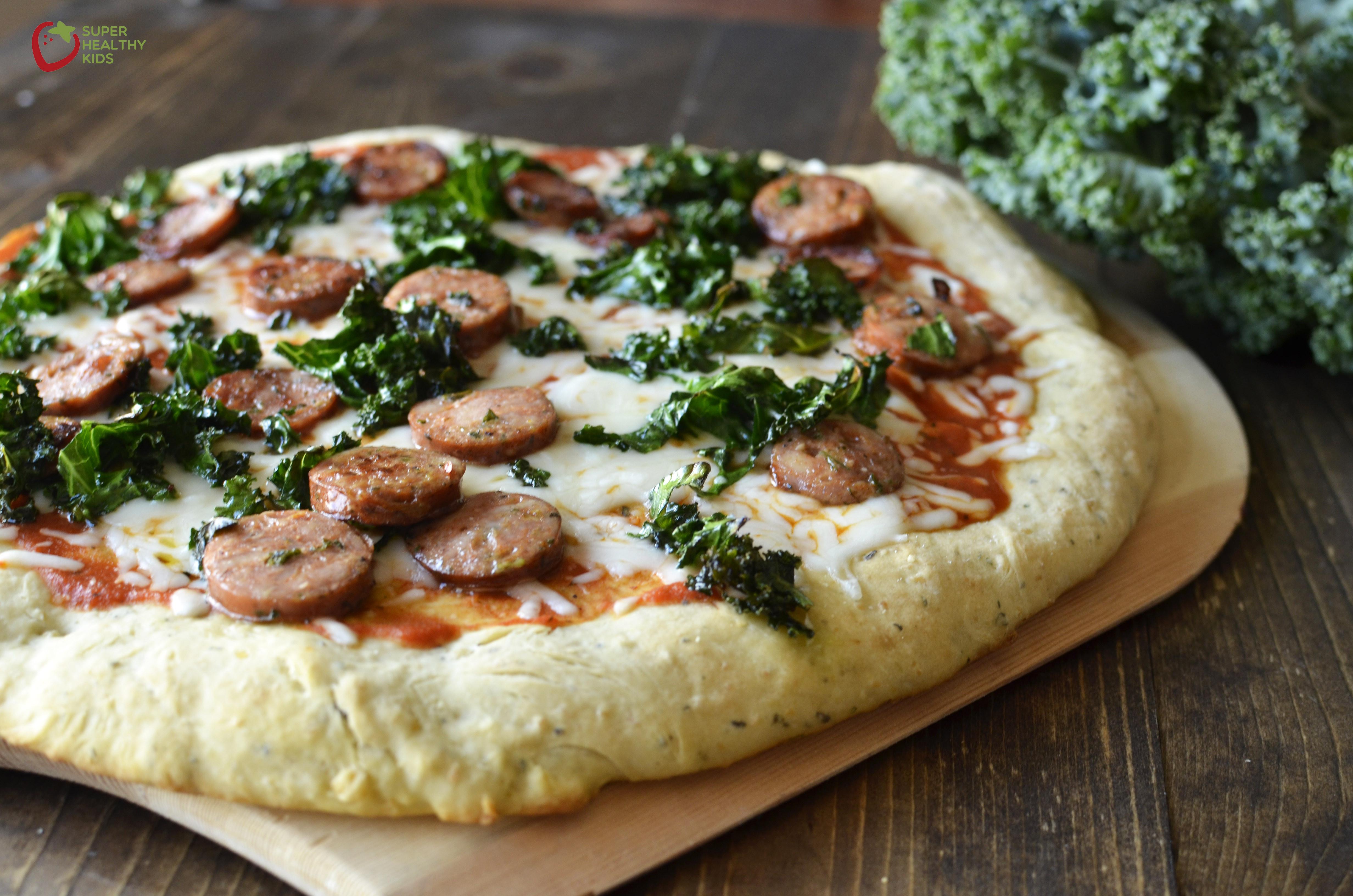 Healthy Chicken Pizza  Kale Pizza Recipe